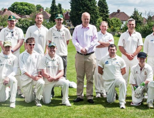Chris supports Headley Court vs Park Hill Charity Cricket Match