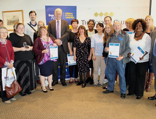 Chris Attends SeeAbility Awards Ceremony at Epsom Downs Racecourse