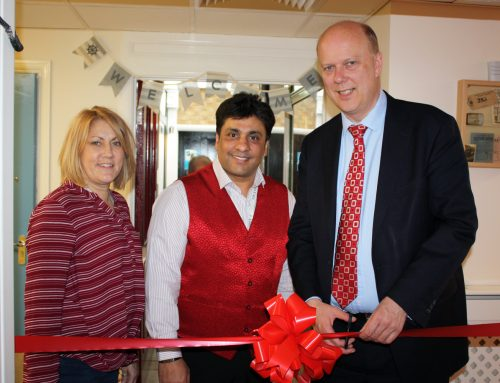 Chris Opens New Facility at Leighton House Care Home