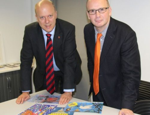 UCA Epsom hosts MP's Christmas Card Competition