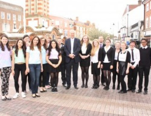 Young Enterprise Teams hailed by Chris as the 'Entrepreneurs of the future'