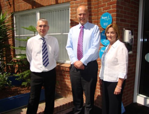 Meeting the team at Ashtead Hospital – June 2010