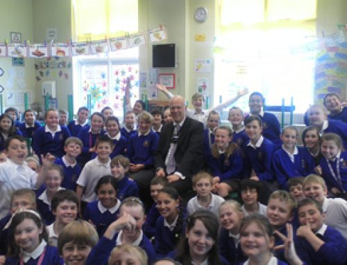 Chris Grayling visits makes a visit to Auriol School in Ewell – June 2012