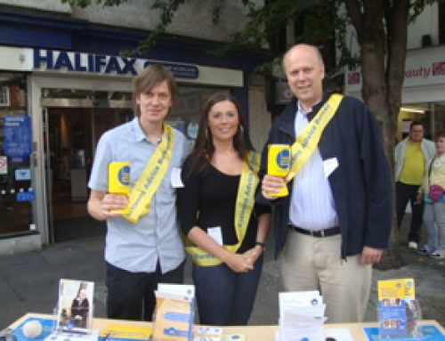 Collecting for Epsom Citizens Advice Bureau – September 2010