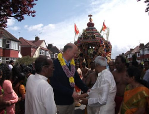 Attending the Hindu Chariot Festival in Stoneleigh – May 2011