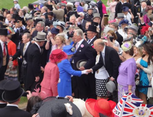 Chris Grayling welcomes the Queen to Epsom Derby – June 2012