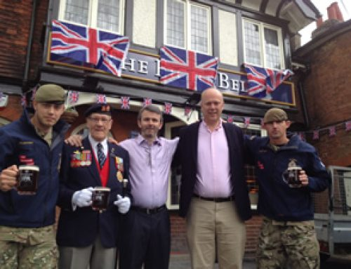 Pub Celebrates by Raising Cash for Troops – June 2012