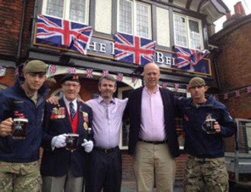 Pub Celebrates by Raising Cash for Troops – June 2012