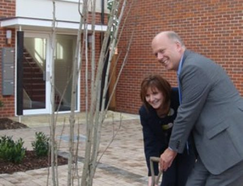 Helping to open Rosebery Housing's new development on the old St Ebba's Hospital site – October 2010