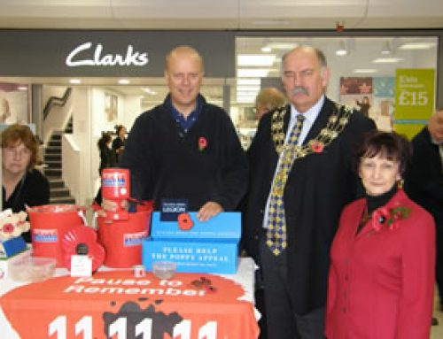 Out collecting for the Royal British Legion Poppy appeal – November 2010