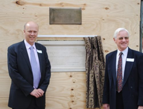 Laying the Foundation Stone at the new Sydney Simmons Homes development in Ashtead – May 2011