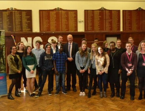 Chris meets young people taking part in National Citizen Service in Epsom and Ewell