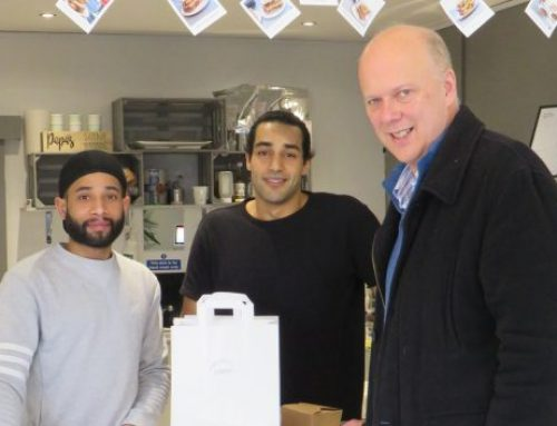 Visit to Yo Sarnie in Epsom for Small Business Saturday 2018
