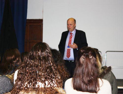 Chris Talks to Rosebery School Students