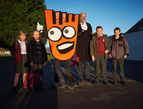 Chris joins Dane Tree Pupils on Walk to School