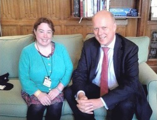 Ashtead campaigner Ciara Lawrence shadows Chris at House of Commons