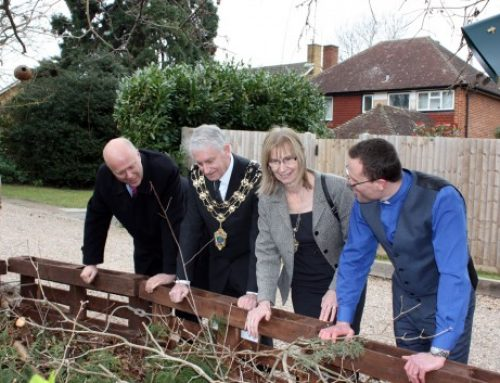 Chris opens Eco Garden at St Mary's Church Cuddington