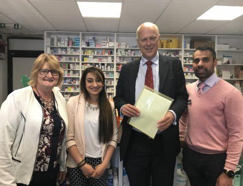 Chris visits Horton Pharmacy