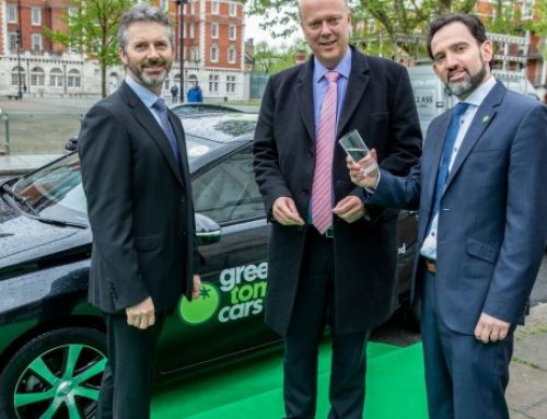 Chris is first to drive one of Green Tomato Cars' new fleet of 50 Toyota Mirai Hydrogen saloons
