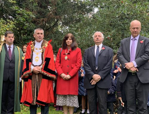 Opening the Garden of Remembrance at Bourne Hall
