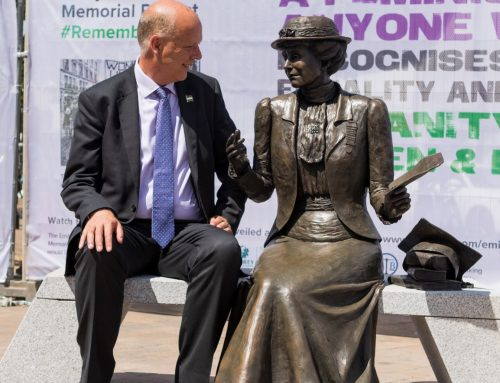 Emily Davidson Statue Unveiled in Epsom